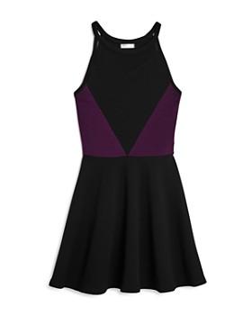 Sally Miller - Girls' Textured Mesh Cutout Dress, Big Kid - 100% Exclusive