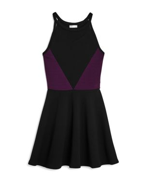 Sally Miller Girls' Textured Mesh Cutout Dress - Big Kid 3032950