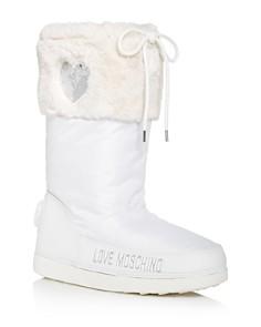 Love Moschino - Women's Faux-Fur Moon Boots