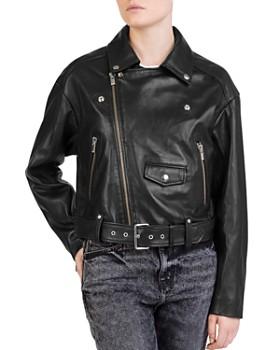 The Kooples - Leather Moto Jacket