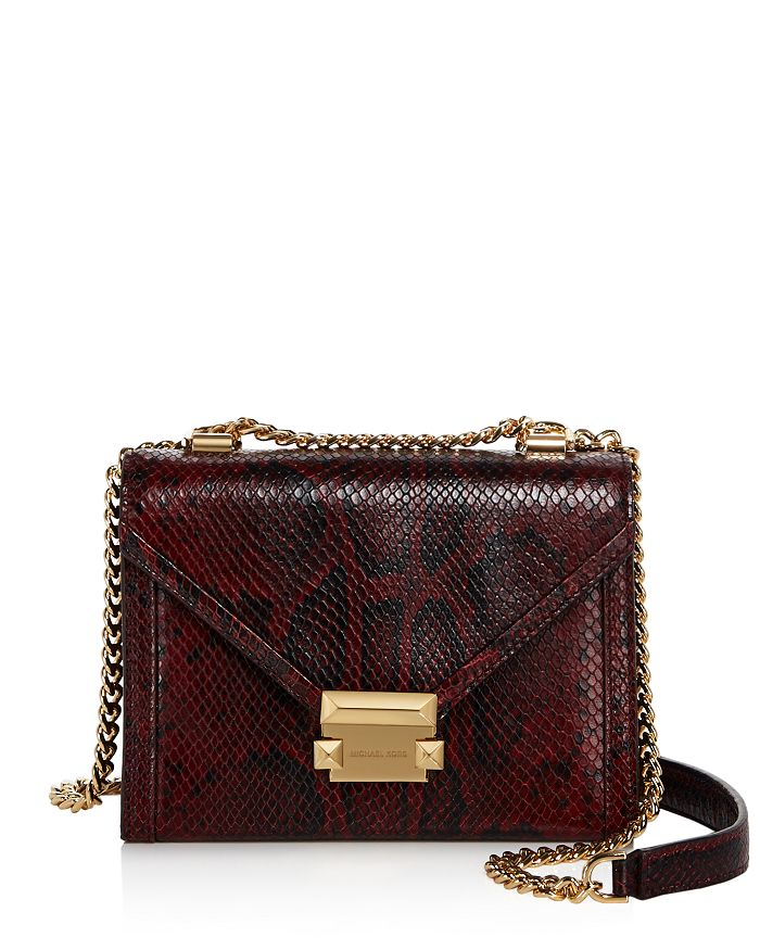 29c44e2f38b05 MICHAEL Michael Kors - Whitney Small Leather Shoulder Bag - 100% Exclusive