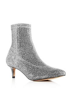 Rebecca Minkoff - Women's Sayres Glitter Kitten-Heel Booties