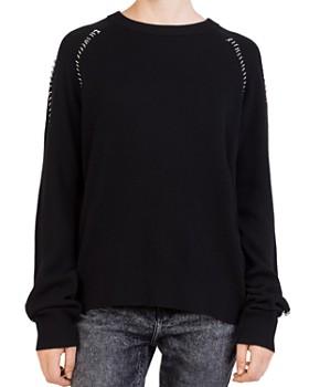 The Kooples - Ring-Trim Crewneck Sweater ... f6ec3a882