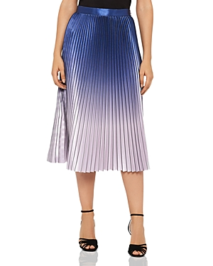 Reiss Anna Metallic Ombre Pleated Skirt