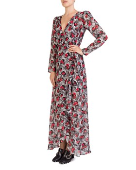 The Kooples - Floral-Print Wrap Maxi Dress