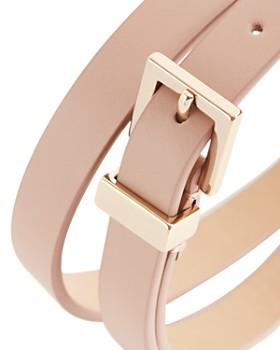 REISS - Blossom Leather Skinny Belt