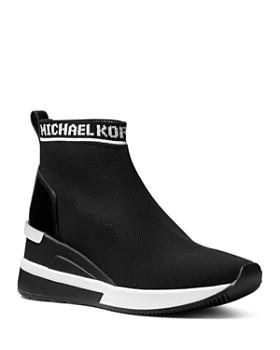 MICHAEL Michael Kors - Women's Skyler Knit Slip-On Sneaker Boots