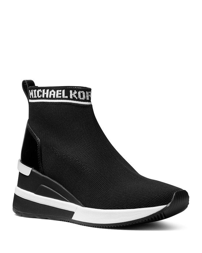6b3907d111d MICHAEL Michael Kors Women s Skyler Knit Slip-On Sneaker Boots ...