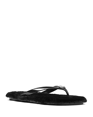 Michael Michael Kors Women's Jet Set Jelly & Faux-Fur Flip-Flops