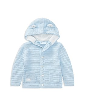 Ralph Lauren - Boys' Hooded Cotton Cardigan with Bear Ears - Baby