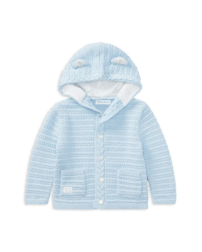 Ralph Lauren - Boys' Hooded Cotton Cardigan with Bear Ears - Baby