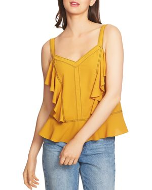 1.state Contrast-Stitched Ruffle Camisole