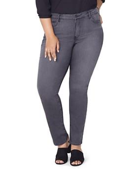 NYDJ Plus - Marilyn Straight Jeans in Westcliff