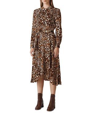 Whistles Esme Leopard Shirt Dress