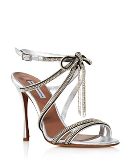 Tabitha Simmons - Women's Iceley Rhinestone Bow High-Heel Sandals