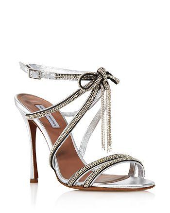 Tabitha Simmons - Women's Iceley Rhinestone Bow High-Heel Sandals