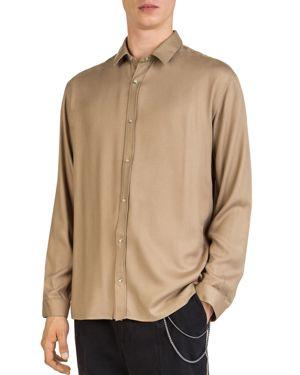 The Kooples Fluid Gold Button-Down Shirt