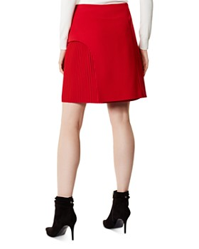 KAREN MILLEN - Overlay Detail Pleated Skirt - 100% Exclusive