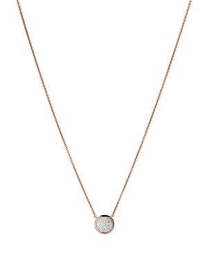 Links Of London LINKS OF LONDON DIAMOND ESSENTIALS PAVE ROUND PENDANT NECKLACE, 17.7