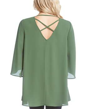 Karen Kane - Crossover Back Strap Detail Top