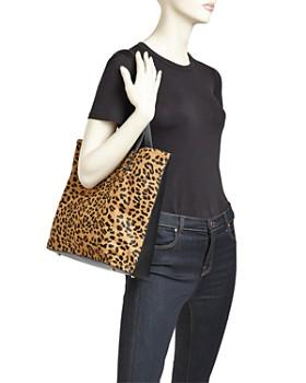 AQUA - Leopard Print Calf Hair Tote - 100% Exclusive
