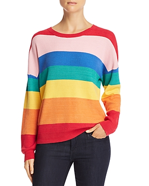 Honey Punch Rainbow Stripe Sweater