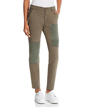True Religion - Cameron Utility Slim Boyfriend Chino Jeans in Military Green
