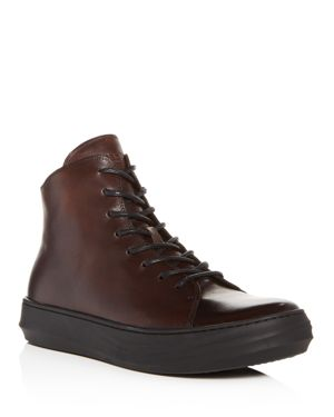 Karl Lagerfeld Men's Nubuck Leather High Top Sneakers