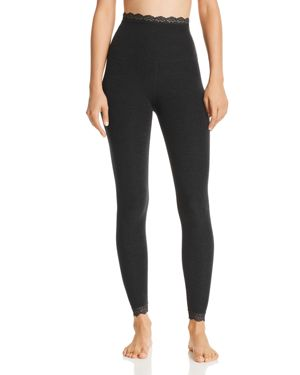BEYOND YOGA All For Lace High Waisted Leggings in Darkest Night