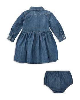 Ralph Lauren - Girls' Long Sleeve Denim Dress & Bloomers Set - Baby