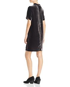 Eileen Fisher Petites - Mock Neck Velvet Dress