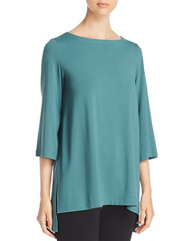Eileen Fisher Petites - Boat Neck High/Low Top