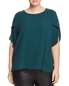 Eileen Fisher Plus - Silk Tulip Sleeve Top