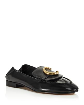 womens-chloe-embellished-loafers by chloé
