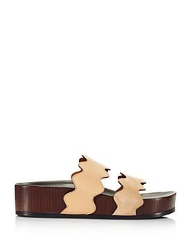Chloé - Women's Lauren Leather Slide Sandals