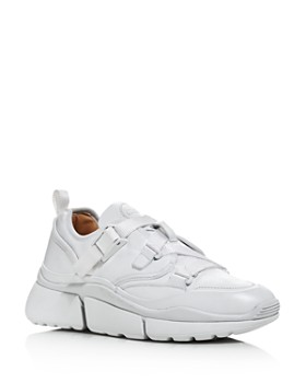 Chloé - Women's Sonnie Leather Buckle Strap Sneakers