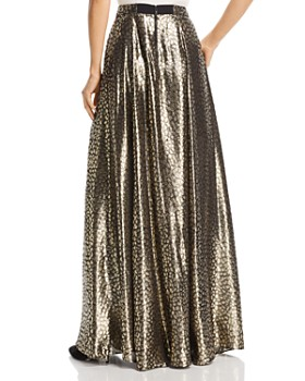 Alice and Olivia - Athena Metallic Cheetah Maxi Skirt