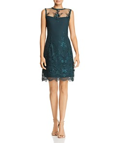 nanette Nanette Lepore - Sleeveless Illusion Embroidered Dress