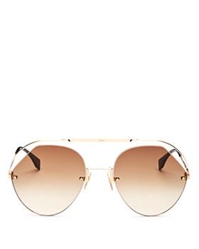 55b69a237cea Fendi - Women s Brow Bar Round Sunglasses