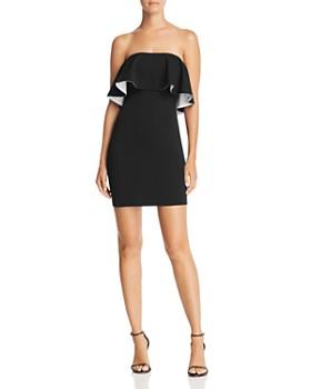 AQUA - Double Face Scuba Popover Dress - 100% Exclusive