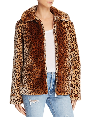 Anine Bing Molly Faux-Fur Leopard Jacket