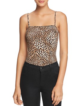 Little Black Bodysuit - Romi Leopard-Print Bodysuit