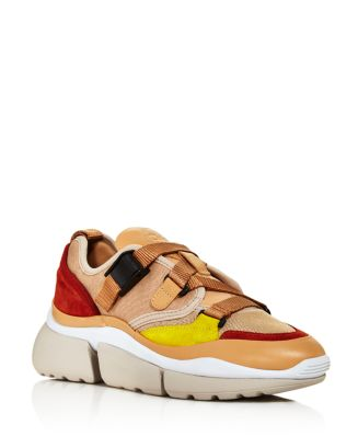 Chloé Sneakers Women's Sonnie Mixed-Media Low-Top Sneakers