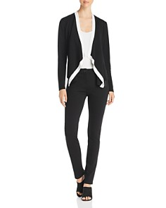 Eileen Fisher Petites - Angled Color Block Cardigan