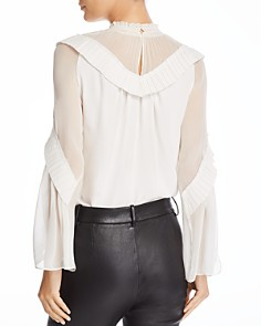 Ramy Brook - Blake Pleated-Trim Top