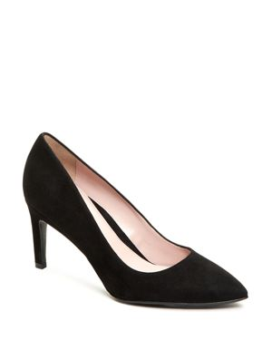 TARYN ROSE Women'S Gabriela Suede Pointed Toe Pumps in Black Suede