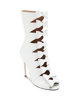 Laurence Dacade - Women's Silda Leather Cutout Bow-Front Booties