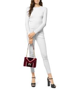 MICHAEL Michael Kors - Whitney Large Velvet Shoulder Bag