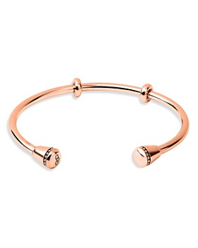 Links of London - Amulet Ringed Open Bangle Bracelet in 18K Rose Gold-Plated Sterling Silver