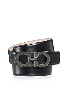 Salvatore Ferragamo Double Gancini Leather Belt - Bloomingdale's_0